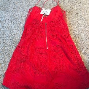 stelly Dresses - NWT red lace and mesh dress